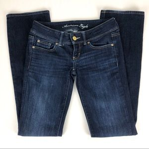 AE Slim Boot Stretch Low Rise Jeans - Size 0 Long